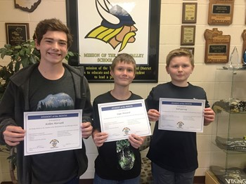 Students of the Month - October