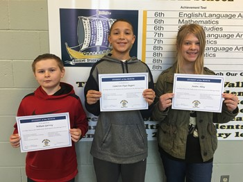 Students of the Month - December
