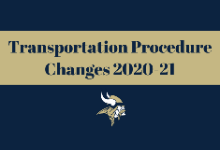 Transportation Procedure Changes 2020-21